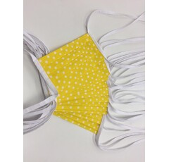 Mask yellow with white polka dots